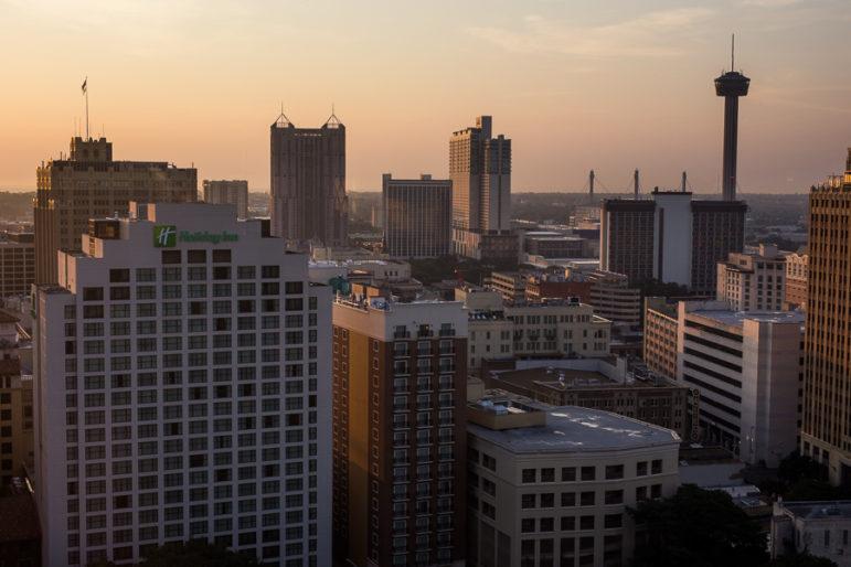 San Antonio skyline.