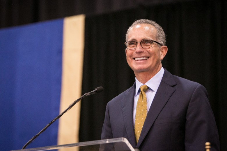 USAA CEO Stuart Parker spoke as keynote speaker at St. Mary's University's 165th annual Spring Commencement.