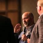 (From left) Rackspace former CEO Lanham Napier and Rackspace co-founder Graham Weston speak at the ScaleUp Summit at the San Antonio Marriott Rivercenter.