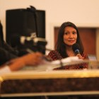 """Melissa Cabello Havrda speaks at the COPS/Metro Alliance's """"get out the vote"""" rally."""