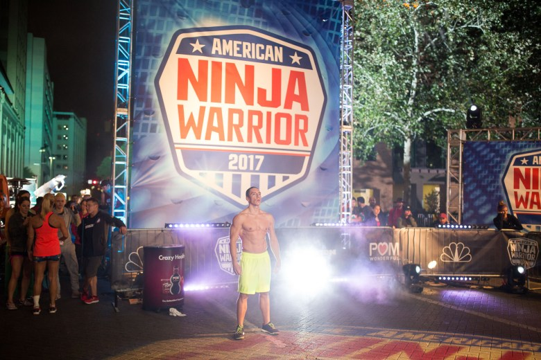 Lufe Torres is introduced as he prepares to compete during American Ninja Warrior.