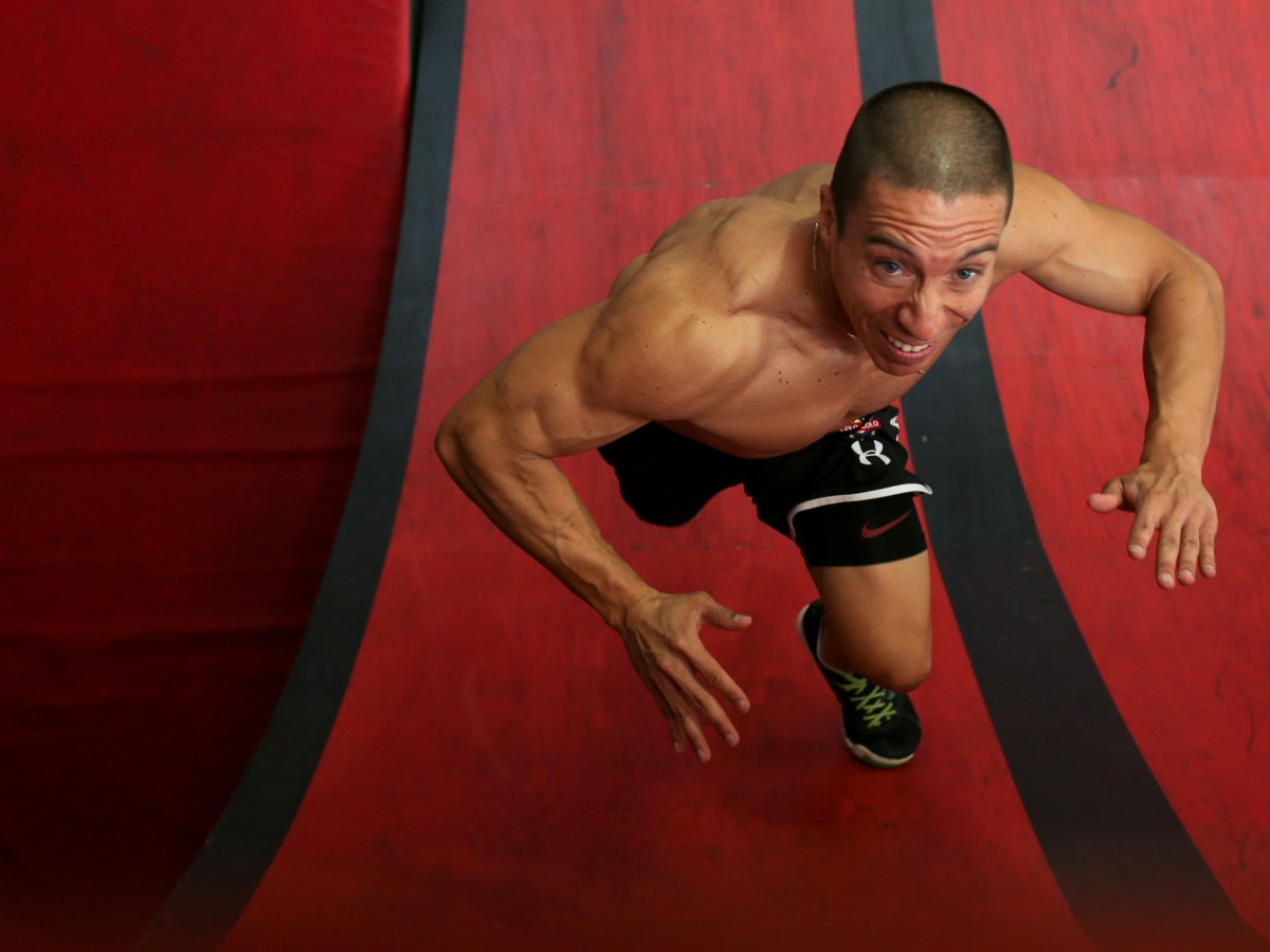 Lufe trains at Power Park Fitness, a facility dedicated to the physical tests of American Ninja Warrior in Spring Branch Texas.