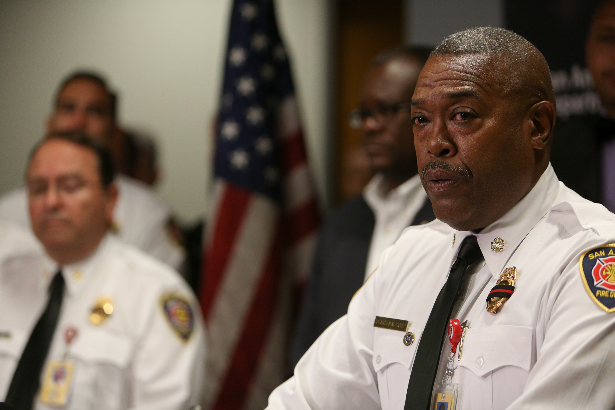 San Antonio Fire Department Chief Charles Hood details the incident off of Ingram Road.