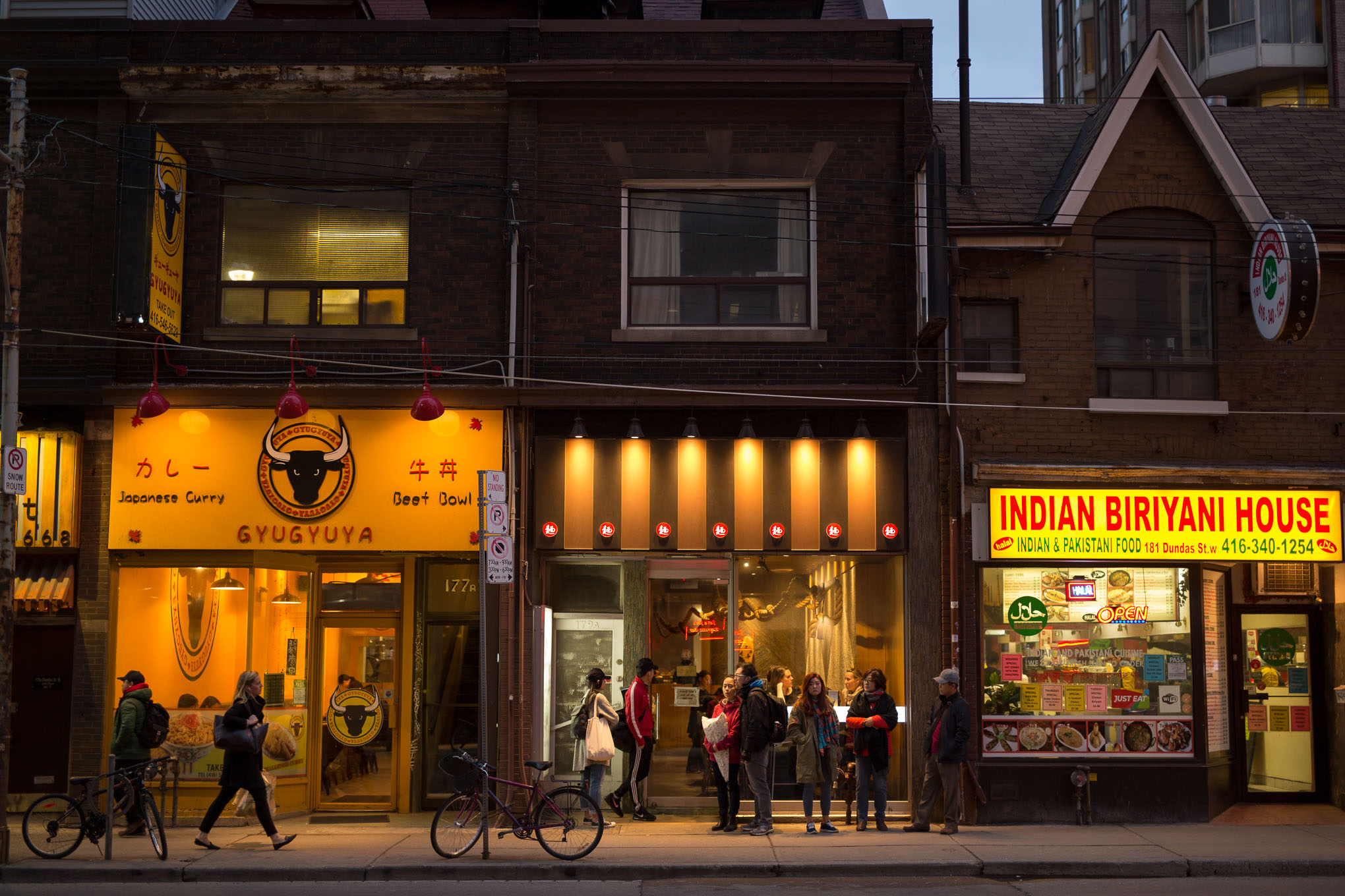 Sansotei Ramen near the Discovery District in downtown Toronto.