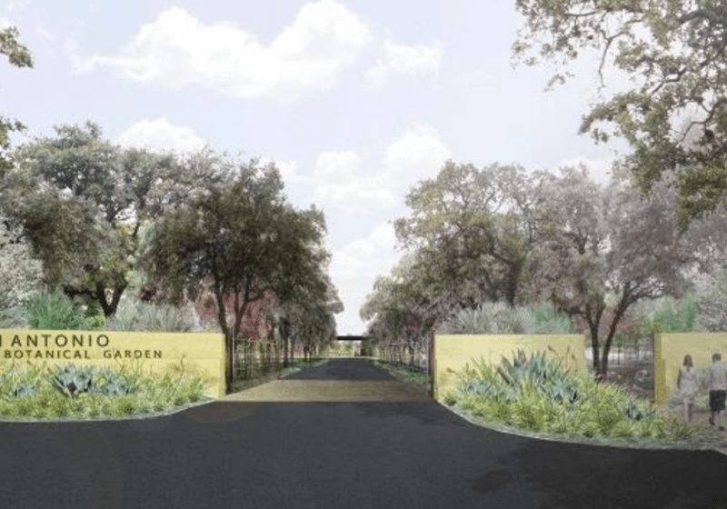 This rendering shows the new entrance to the San Antonio Botanical Garden.