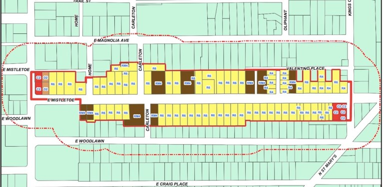 Boundaries for the proposed Tobin Hill North Historic District.
