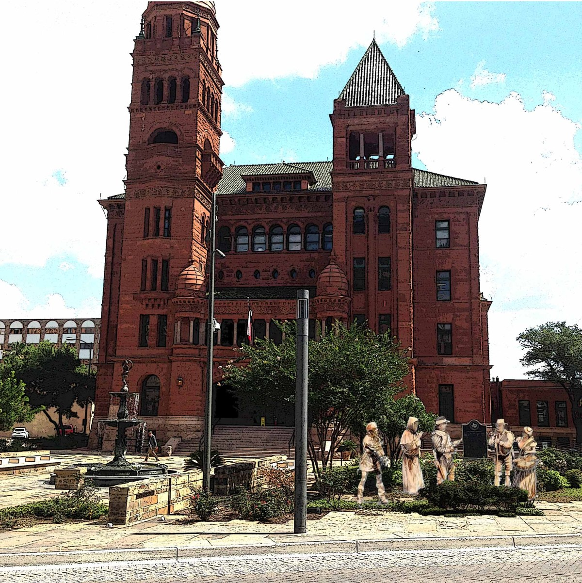 The proposed monument honoring the first Canary Island settlers in San Antonio could go in front of the Bexar County Courthouse.