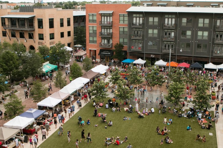The Pearl Farmer's Market happens every Saturday and Sunday. Here, it is viewed from the balcony of Cellars.
