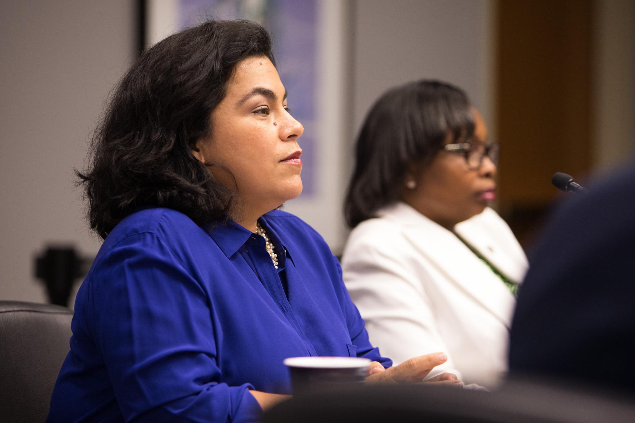 Councilwoman Rebecca Viagran (D3) in B Session.