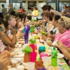 A large crowd enjoys the food at the Haven for Hope BBQ Bash.