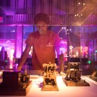 John Paul Castro examines the Morse Telegraph exhibit at the San Antonio Museum of Science and Technology.