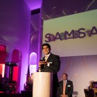 Councilman Rey Saldaña (D4) speaks at the opening of the San Antonio Museum of Science and Technology.