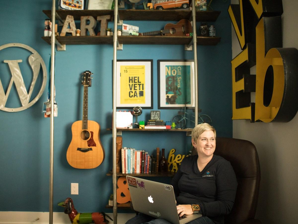 WebTegrity Co-Founder Kori Ashton works in her office.