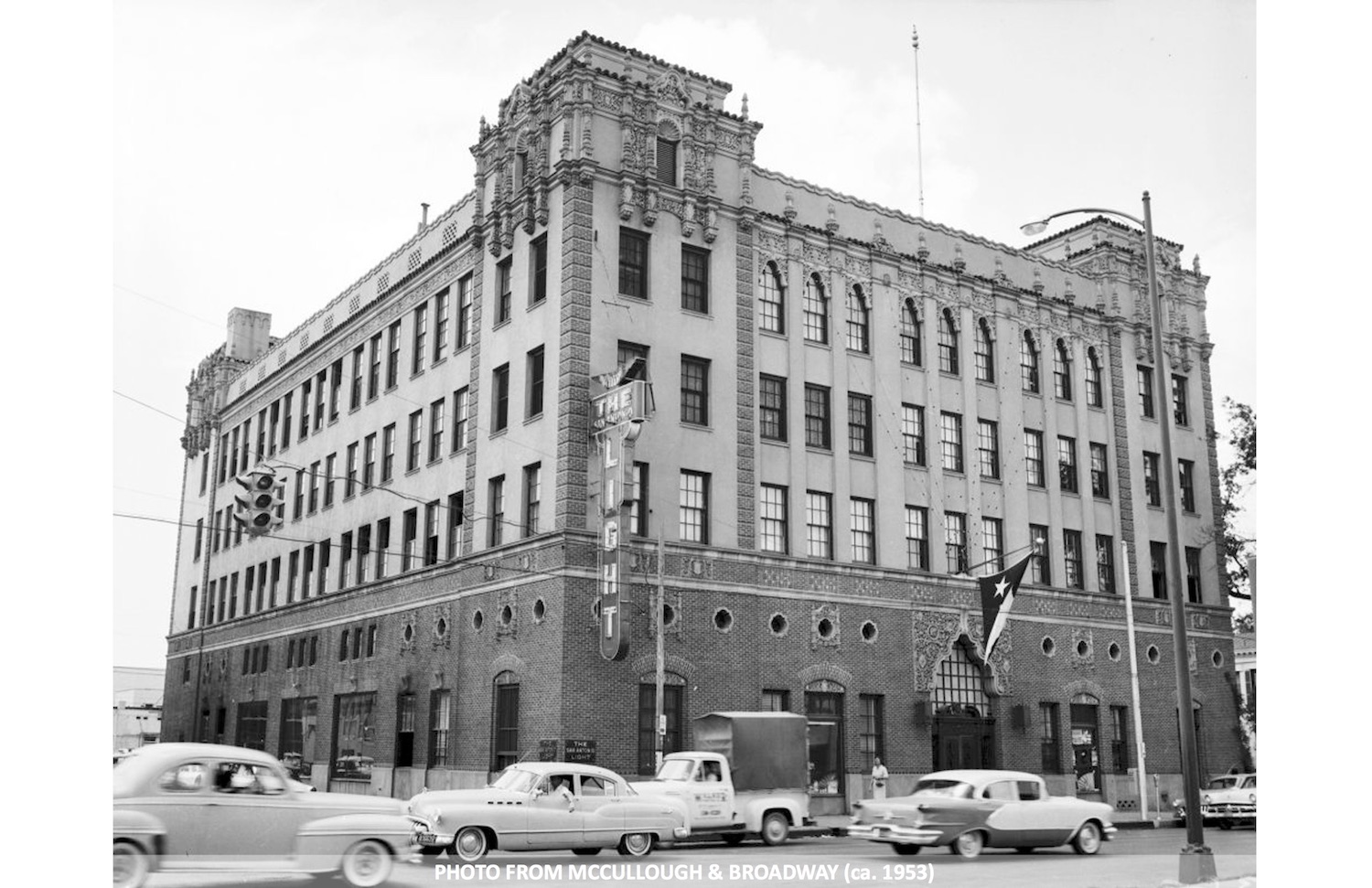 This historic photo of the Light building was taken around 1953.