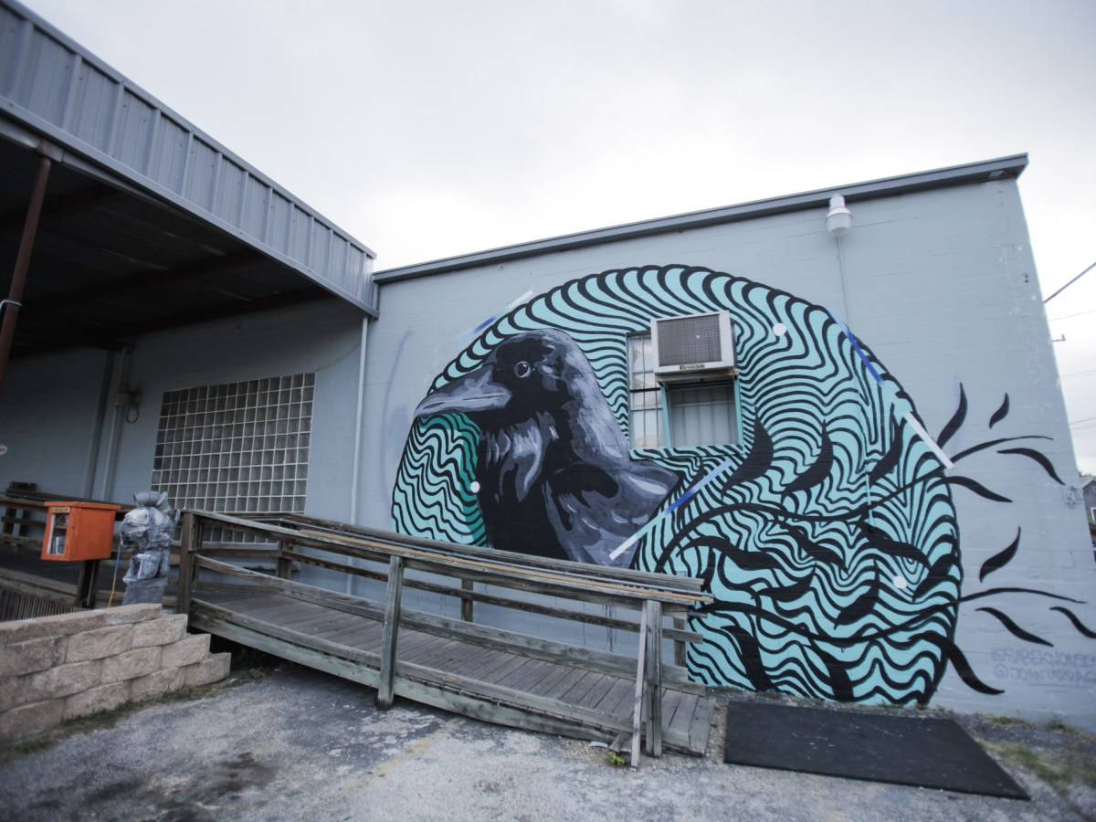 Mural artist's Joan Tarrago and Sabek piece Grackle is on display at 1906 S. Flores St.