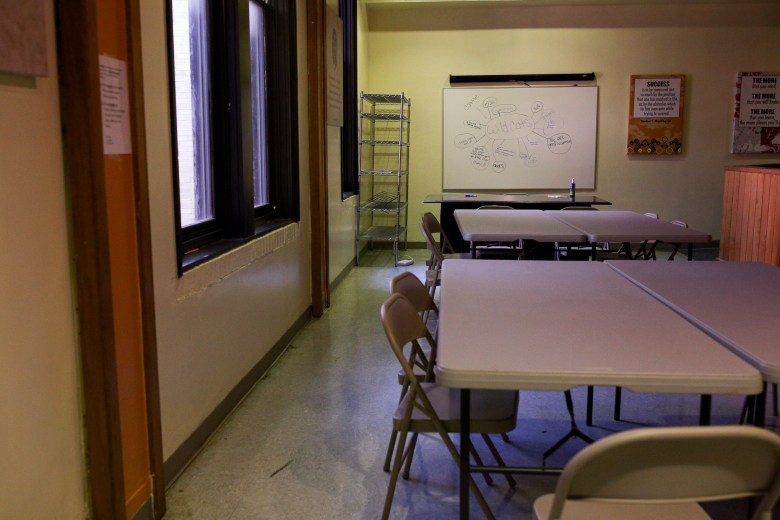 Ella Austin consists of multiple work areas and conference rooms for collaboration along with after school programs for children.