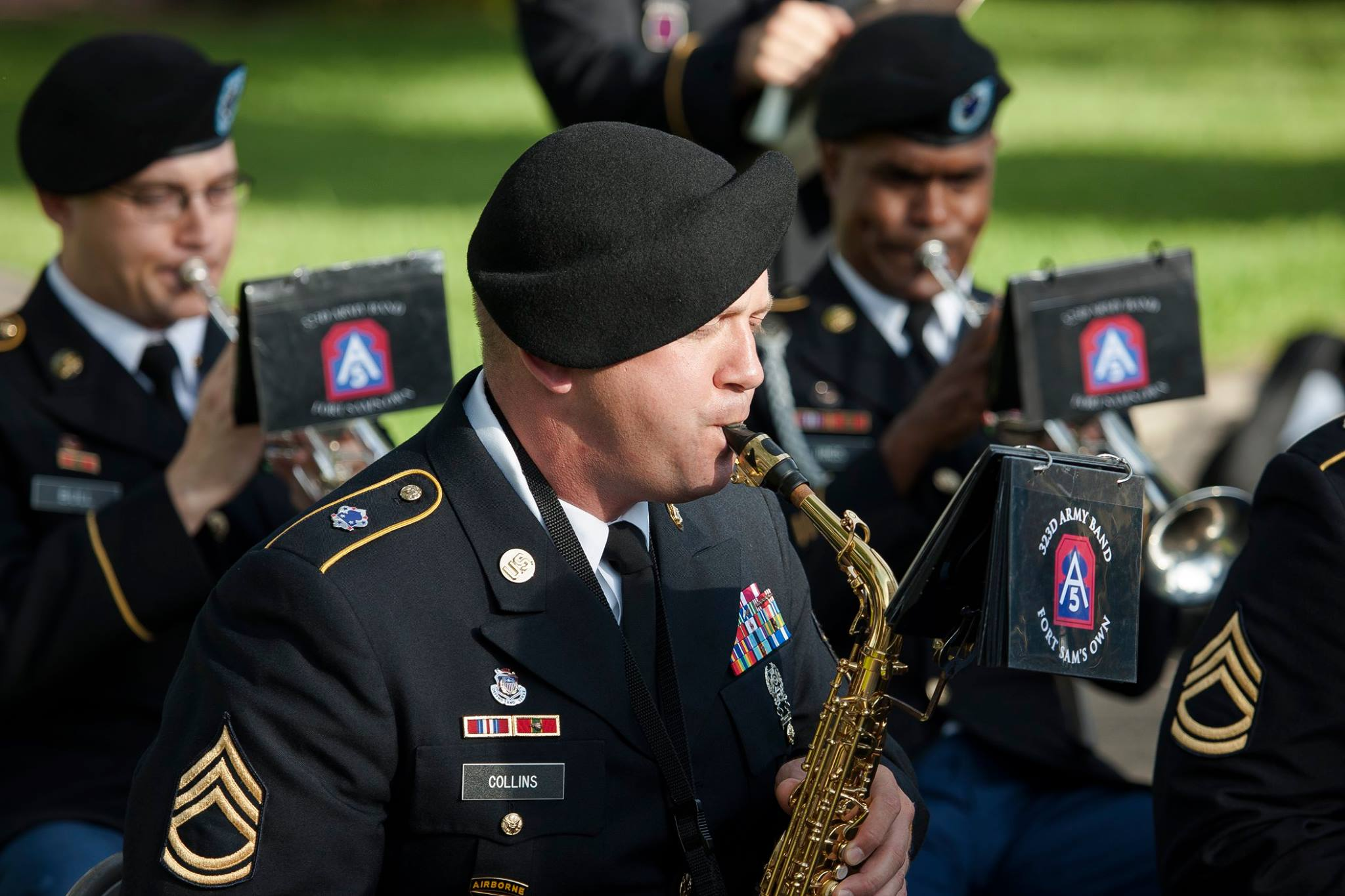 The 323rd Army Band 'Fort Sam's Own'.