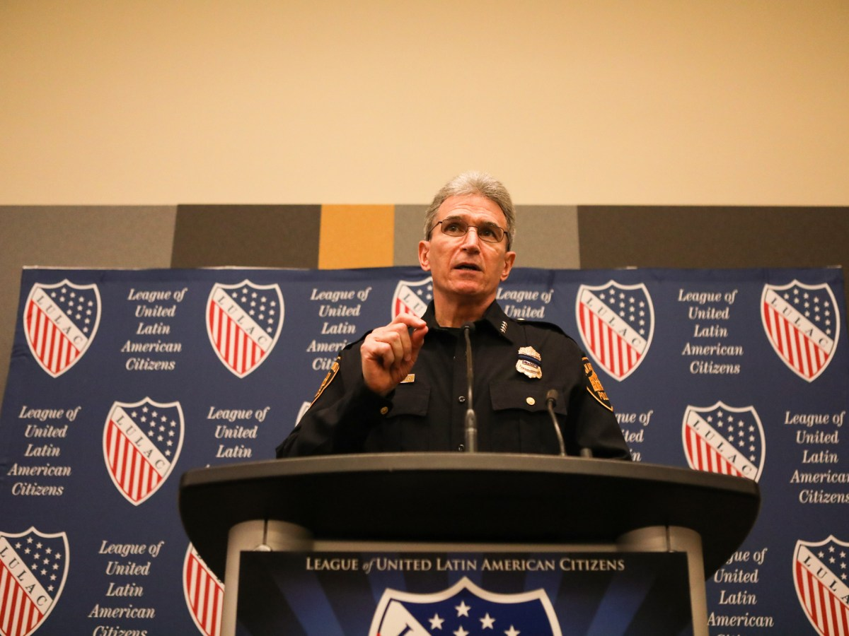Police Chief William McManus speaks at the press conference at the 2017 LULAC National Convention & Exposition.