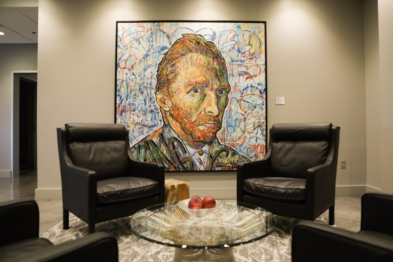 Nowart's piece Van Gogh is displayed in the Group 42 office.