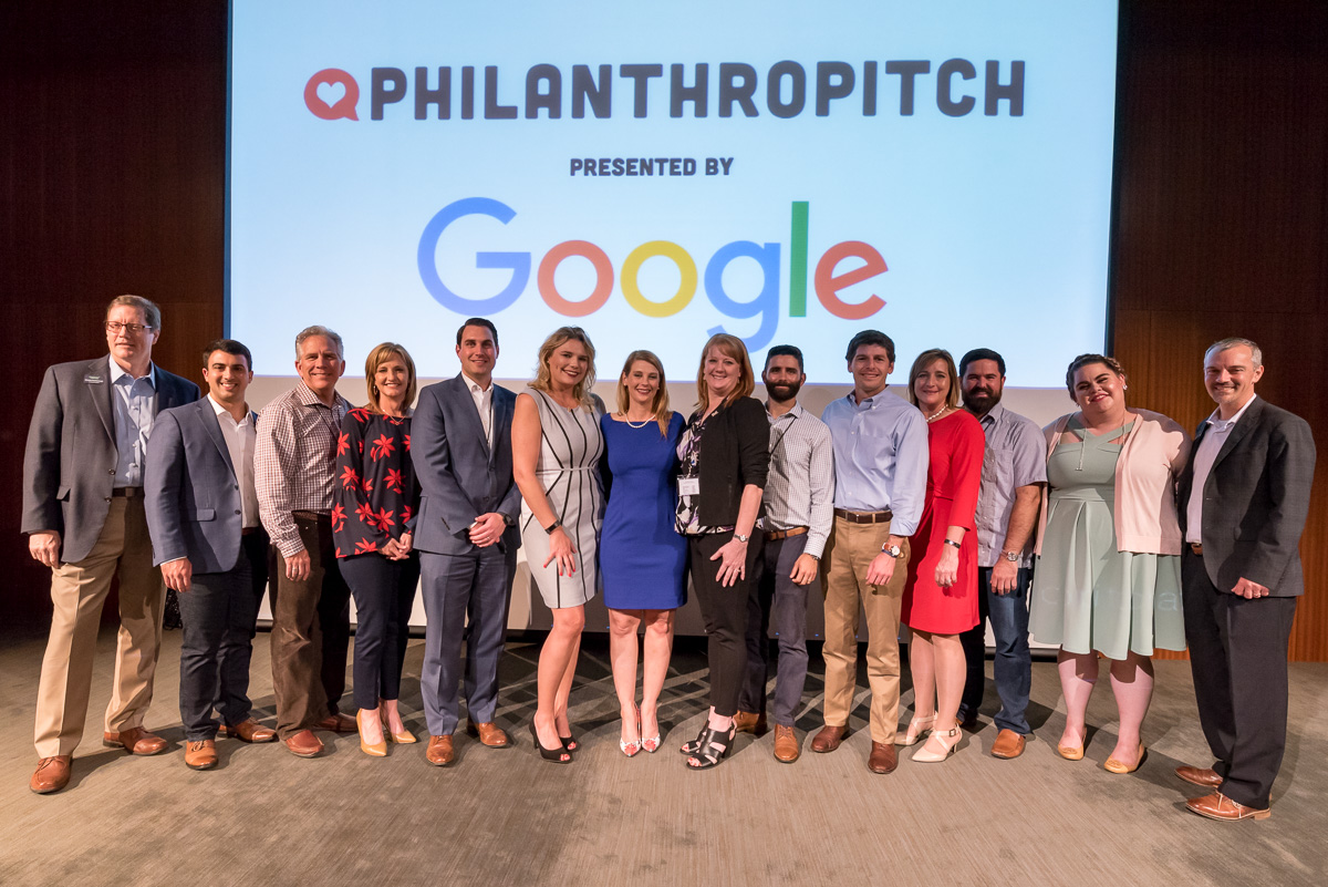 Contestants from the 2017 Philanthropitch in Austin vie for possible funds in the pitch competition.