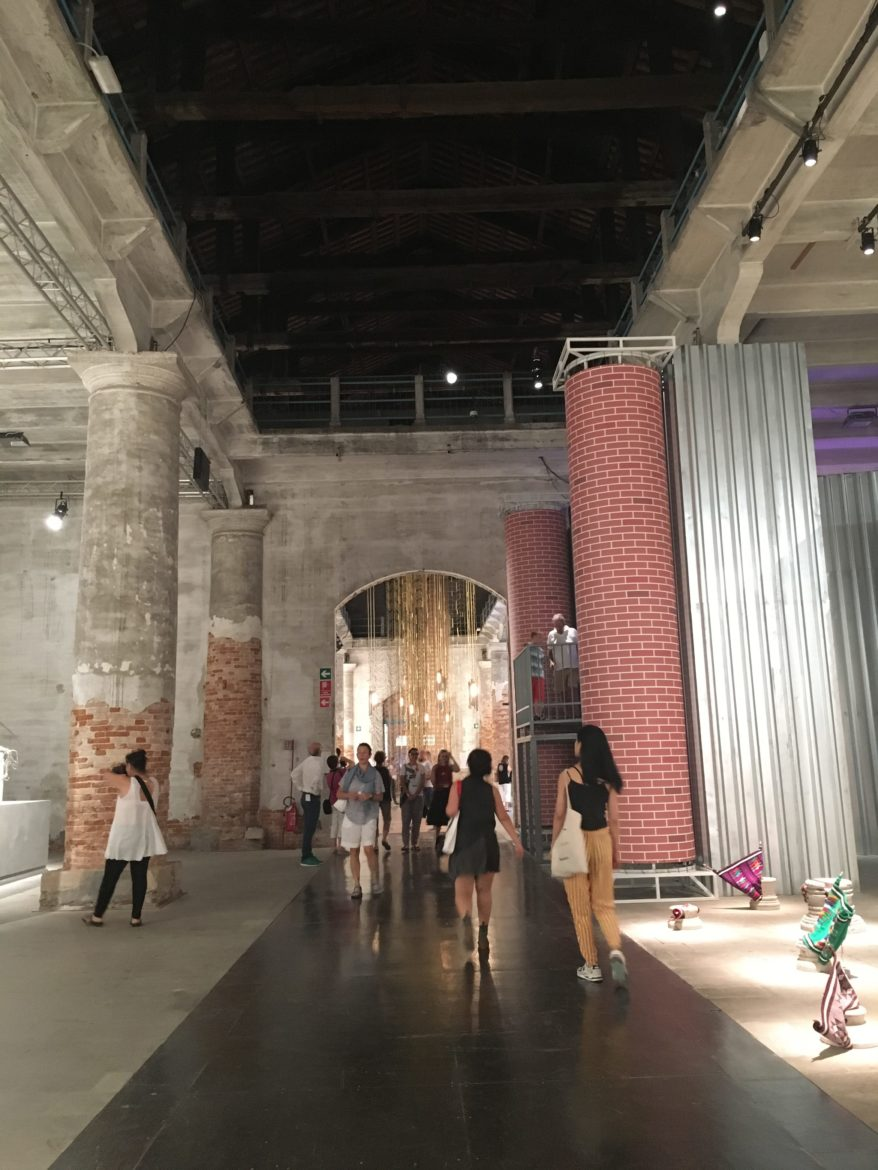 Inside the Arsenale.
