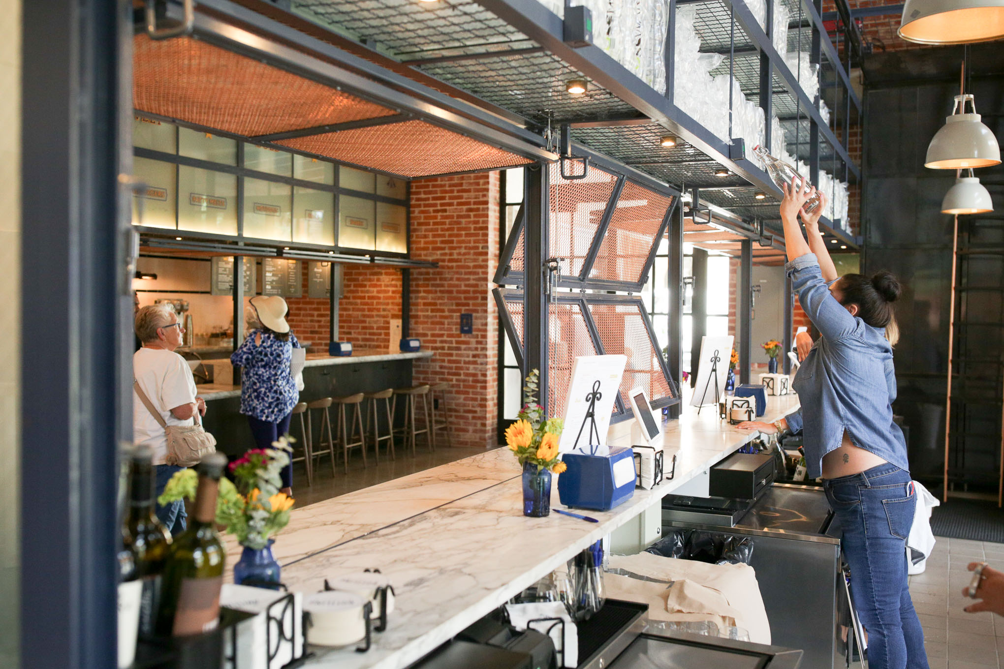 The bar at the Bottling Department opens on it's first day of service.