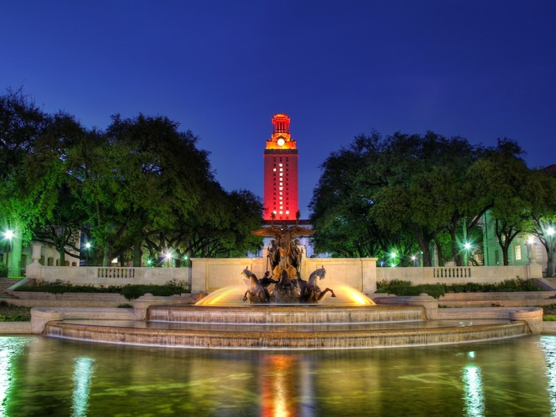 The Main Building Tower at the University of Texas at Austin.