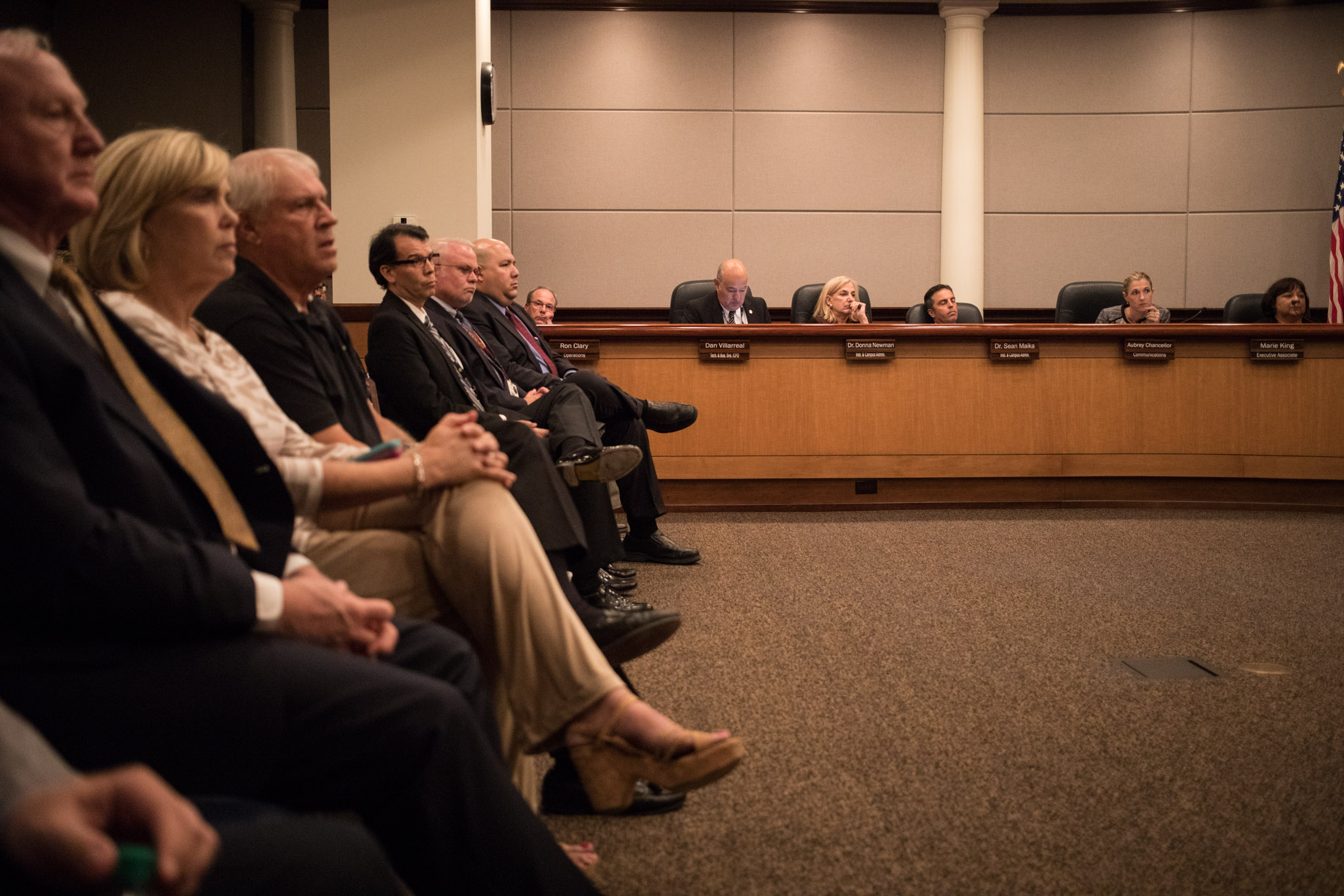 The NEISD board convenes to discuss the possibility of changing the name of Robert E. Lee High School.