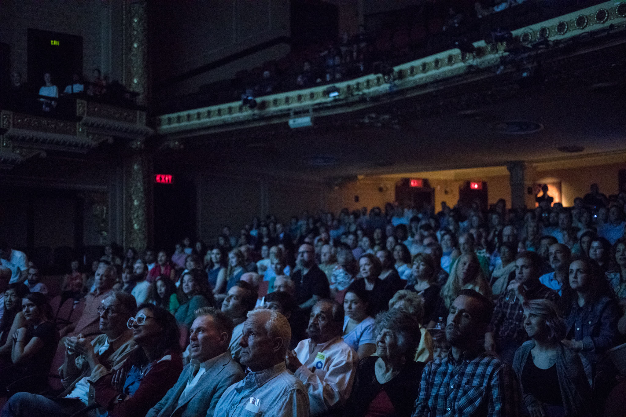 A large crowd fills Charline McCombs Empire Theatre to watch PechaKucha Vol. 27.