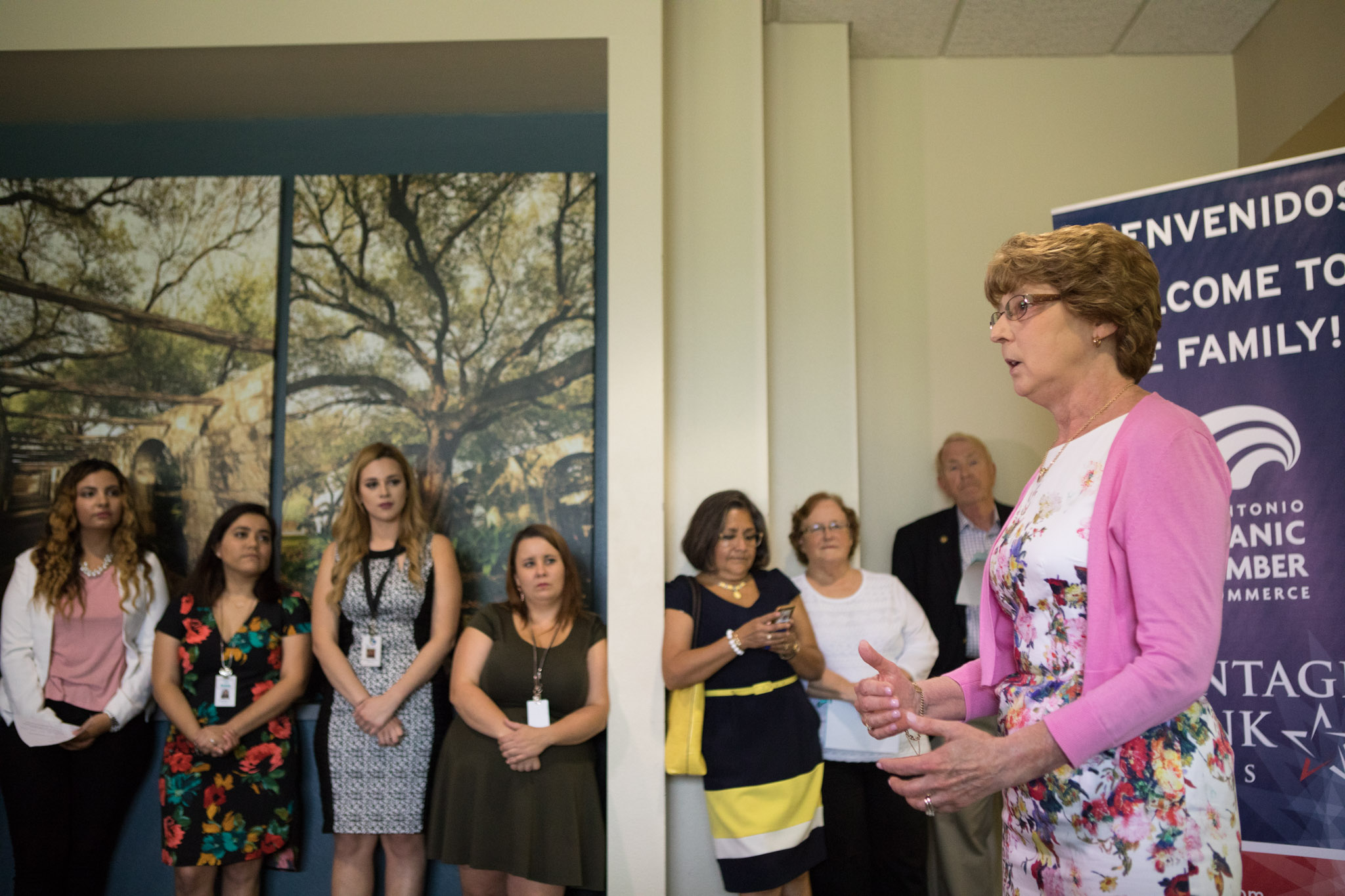 Rape Crisis Center Room Sponsor Karen Reaves speaks at the opening of the new location of the Rape Crisis Center.