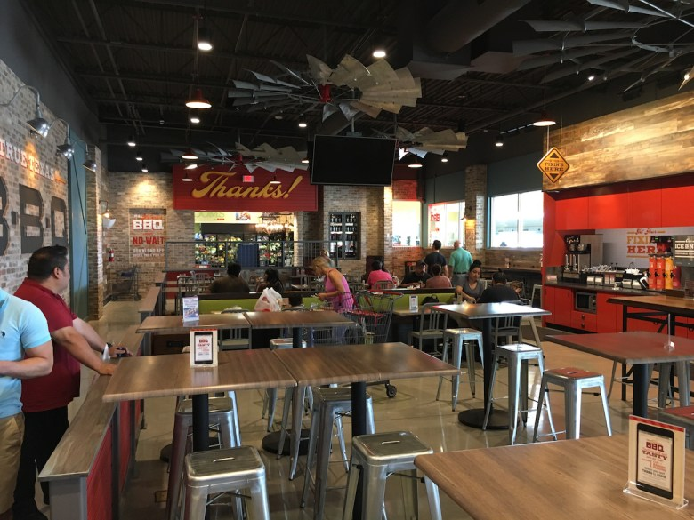 The True Texas BBQ Restaurant at H-E-B's new Bulverde Road location offers dine-in, take out, and drive-through.