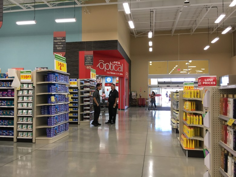 The Optical by H-E-B Eye Care Center at the chain's new Bulverde Road location is the first in San Antonio.