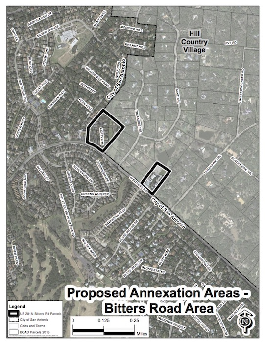 A small, unincorporated residential neighborhood on West Bitters Road is still being considered for annexation by the City of San Antonio.