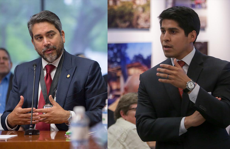 Councilman Roberto Treviño (D1) and Councilman Rey Saldaña (D4).