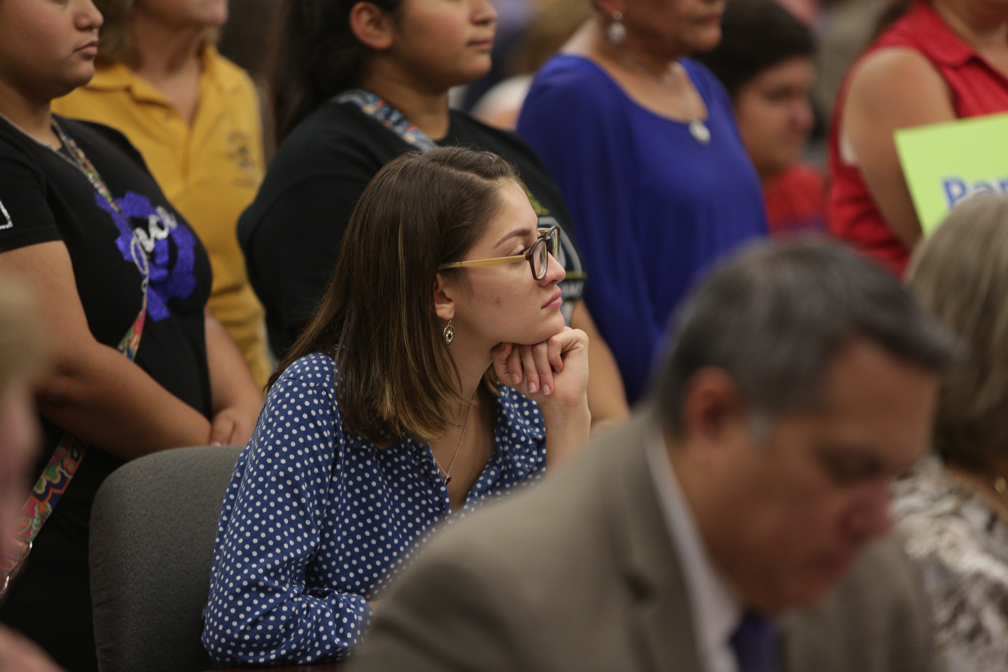 Ruby Palanco at the SAISD Board Meeting on Monday evening.