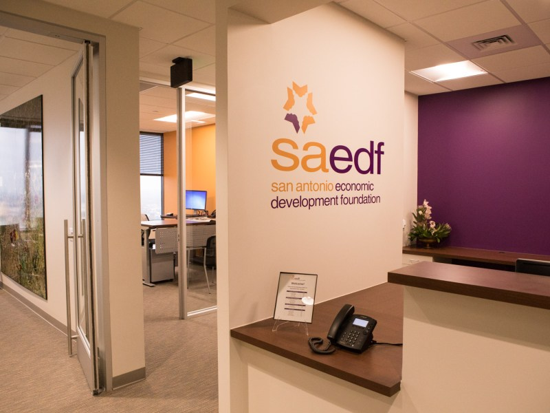 The new office of the San Antonio Economic Development Foundation is open in the Weston Centre.