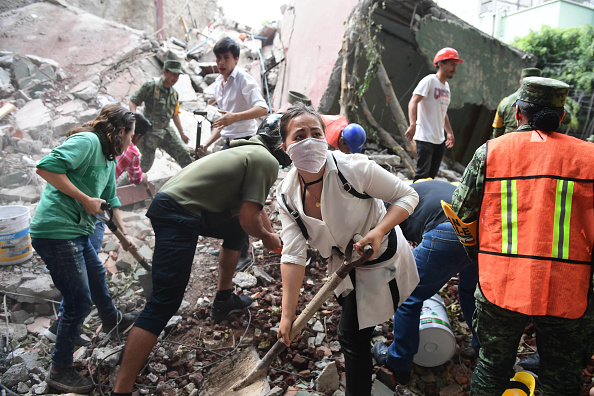 A devastating quake in Mexico on Tuesday killed more than 100 people, according to official tallies, with a preliminary 30 deaths recorded in the capital where rescue efforts were still going on.