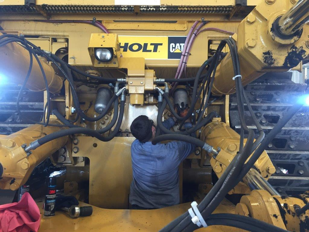 Dylan White operates machinery during his summer internship with CPS Energy.