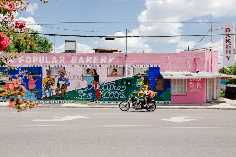 La Popular Bakery across the street from the Guadalupe Cultural Arts Center.