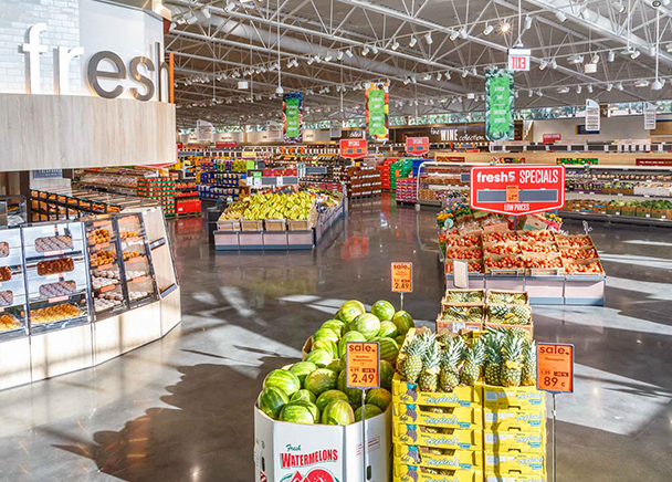 An interior rendering of Lidl's first grocery store to open in San Antonio's Westside.