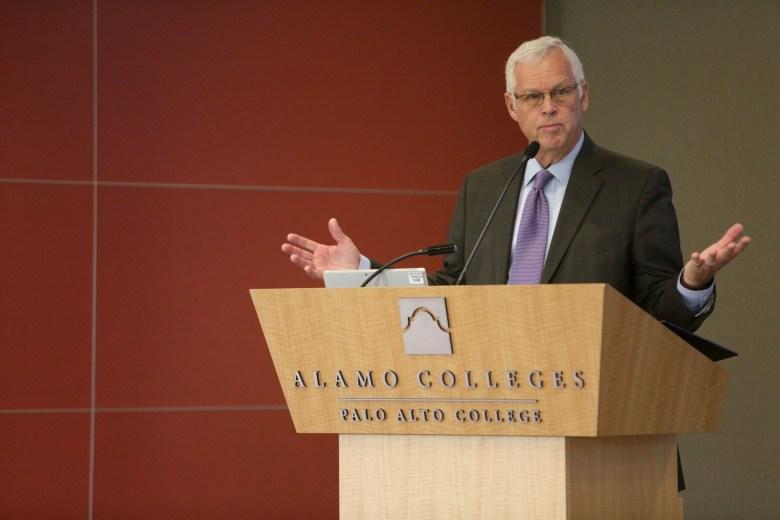 Alamo Colleges Chancellor Bruce Leslie.