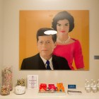 Paintings of John and Jacqueline Kennedy Onassis can be found throughout the leasing office.