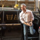 Mayor Ron Nirenberg arrives for the benefit concert featuring George Straight and other country music stars.
