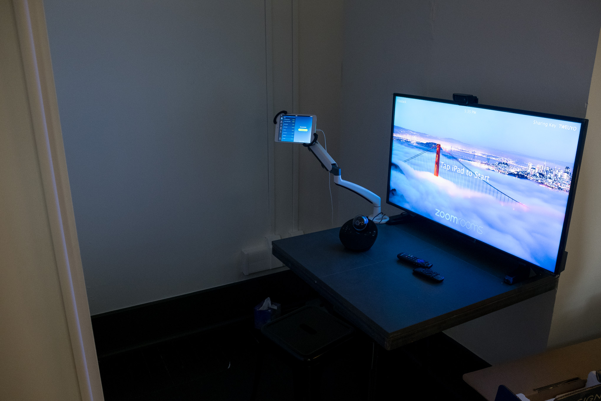 A room dedicated just for video calls is found in the corner of the new space.