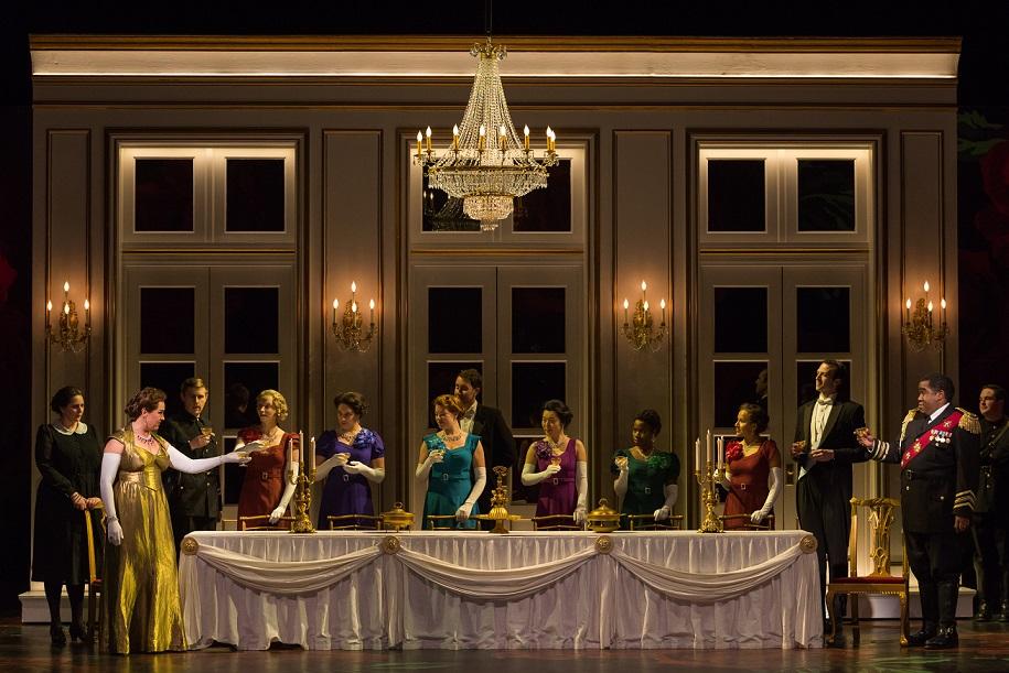 A scene from Opera San Antonio's performance of Macbeth in September 2017.
