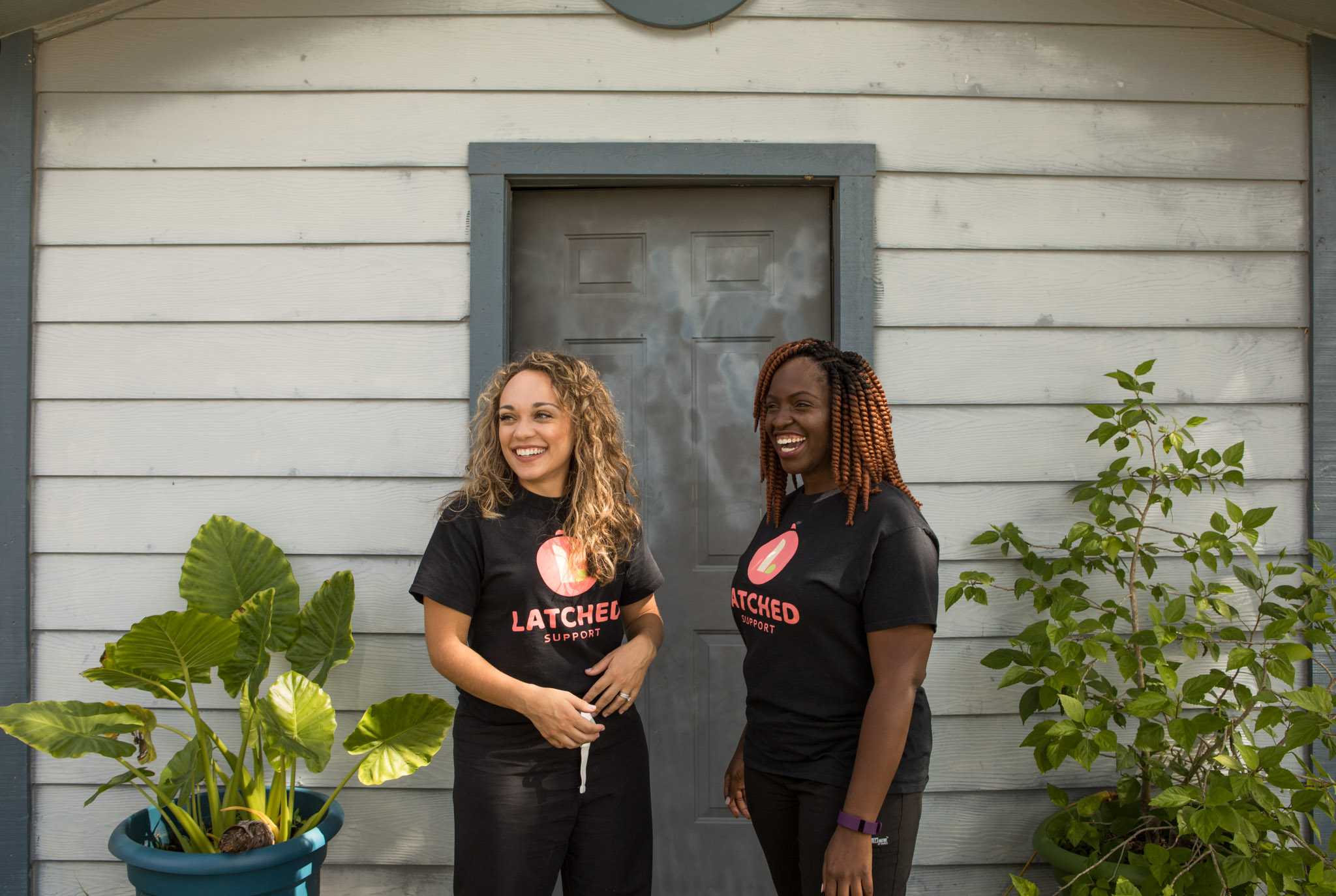 (From left) Ashley Green and Veronica Haywood are the founders of Latched Breastfeeding.