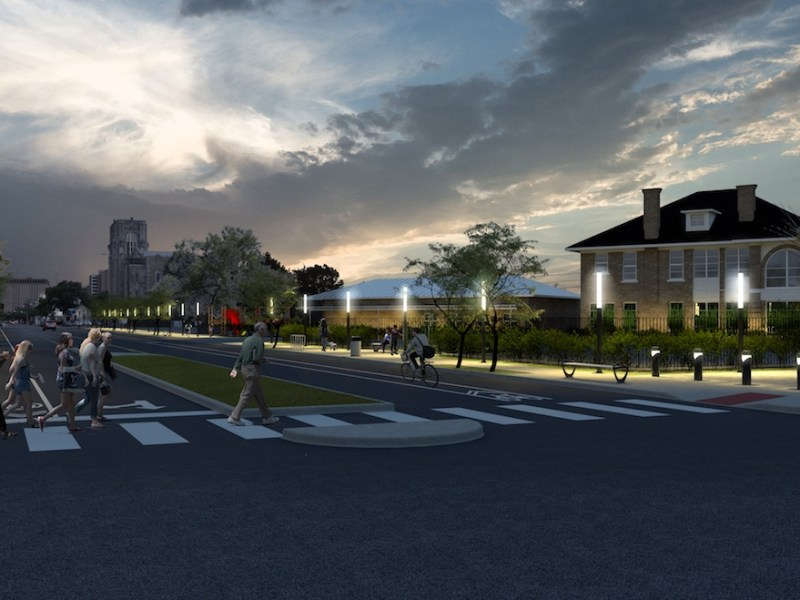 A rendering of McCullough Avenue at the intersection of US-281.