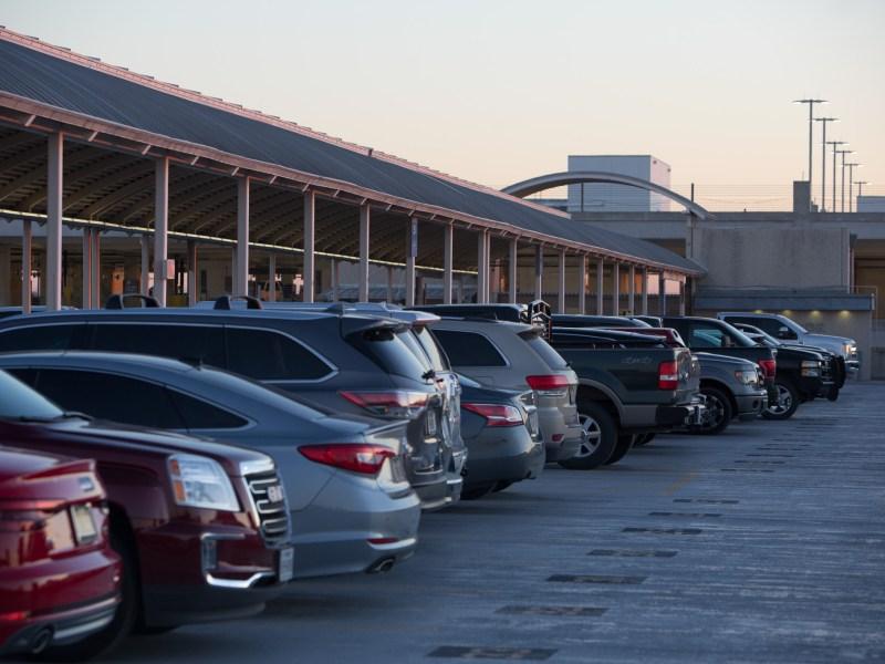 The parking garage at San Antonio International Airport.