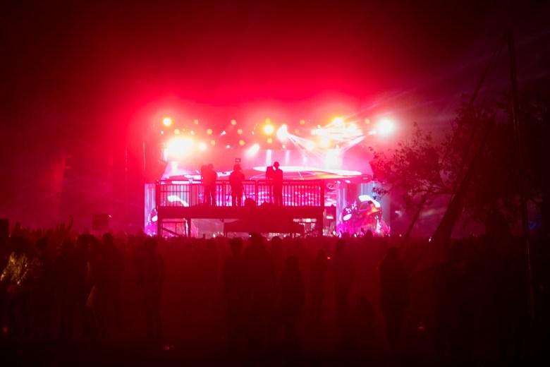 Mala Luna festival attendees during the Wiz Khalifa show.