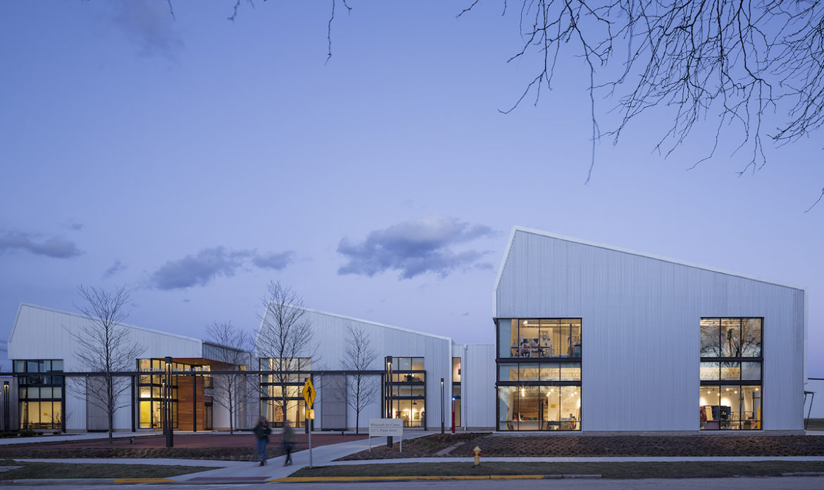 The Witcombe Art Center at Knox College acts as a new gateway to central campus by way of downtown Galesburg, Illinois.